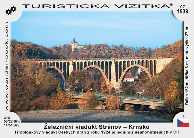 Železniční viadukt Stránov - Krnsko