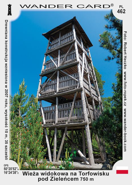 Zieleniec torfowiska wieża widokowa