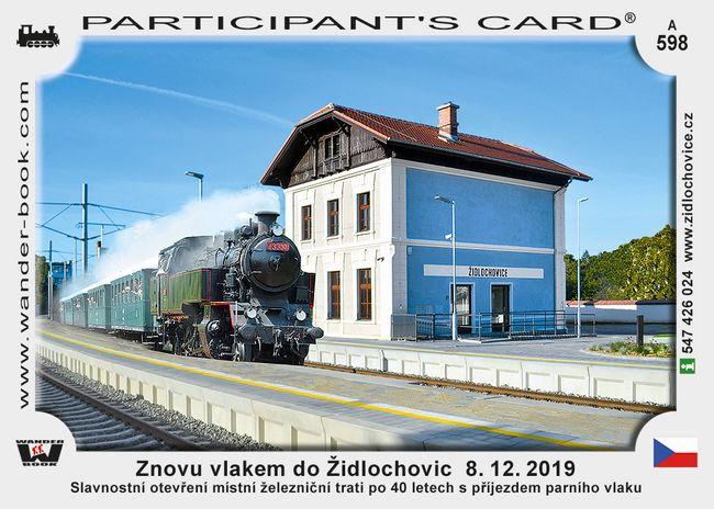 Znovu vlakem do Židlochovic  8. 12. 2019
