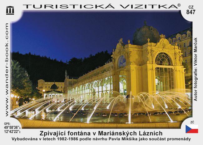 Zpívající fontána v Mariánských Lázních