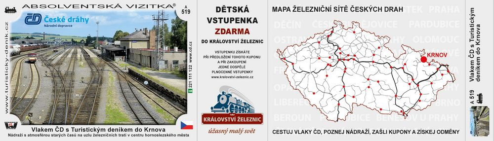 Vlakem ČD s Turistickým deníkem do Krnova