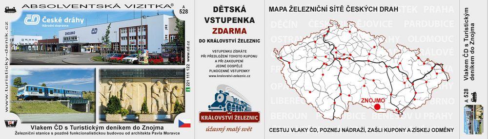 Vlakem ČD s Turistickým deníkem do Znojma