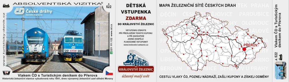 Vlakem ČD s Turistickým deníkem do Přerova