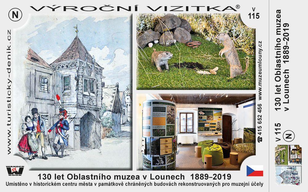 130 let Oblastního muzea v Lounech  1889–2019