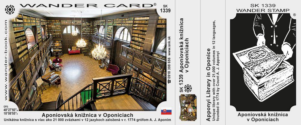 Aponiovská knižnica v Oponiciach