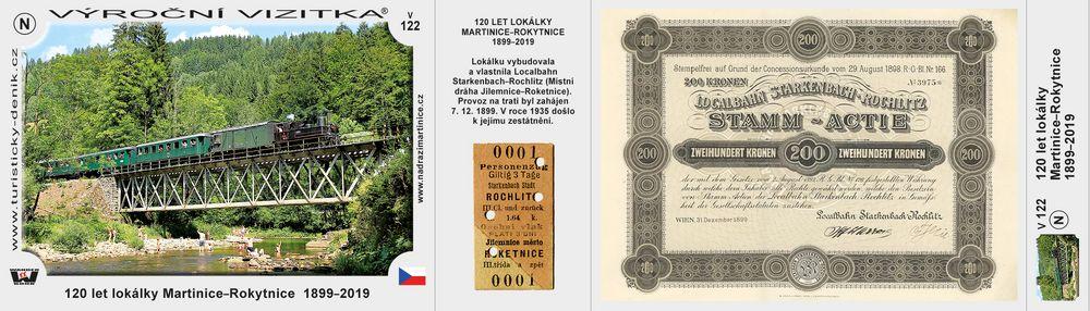 120 let lokálky Martinice–Rokytnice  1899–2019