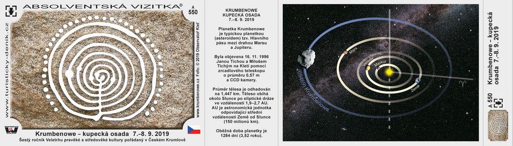 Krumbenowe – kupecká osada  7.–8. 9. 2019