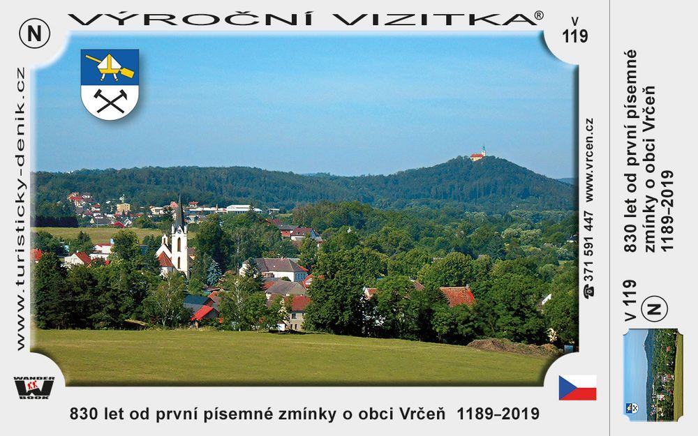 830 let od první písemné zmínky o obci Vrčeň  1189–2019
