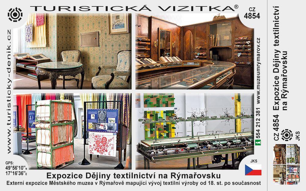Expozice Dějiny textilnictví na Rýmařovsku