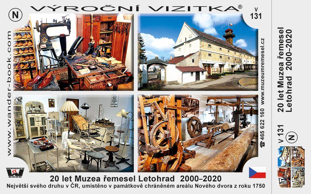 20 let Muzea řemesel Letohrad  2000–2020