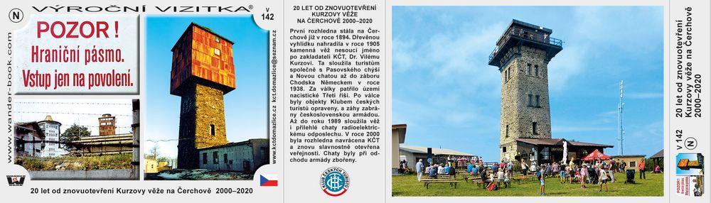 20 let od znovuotevření Kurzovy věže na Čerchově  2000–2020