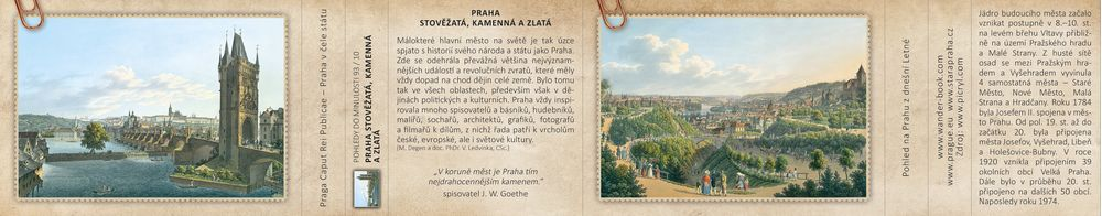 Praha stověžatá, kamenná a zlatá