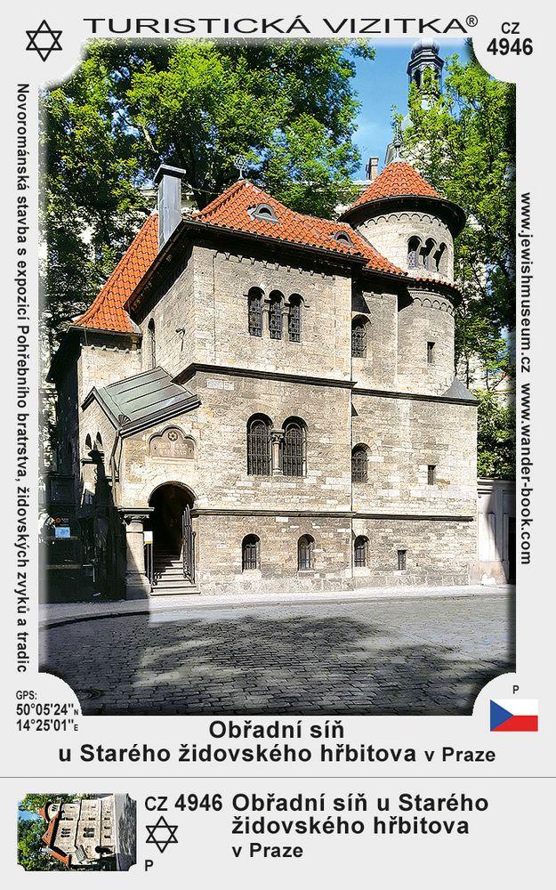 Obřadní síň u Starého židovského hřbitova v Praze