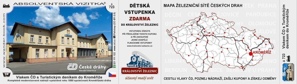 Vlakem ČD s Turistickým deníkem do Kroměříže