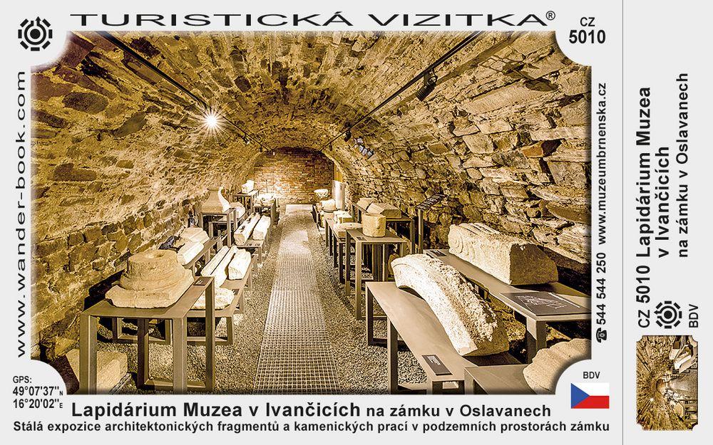 Lapidárium Muzea v Ivančicích na zámku v Oslavanech