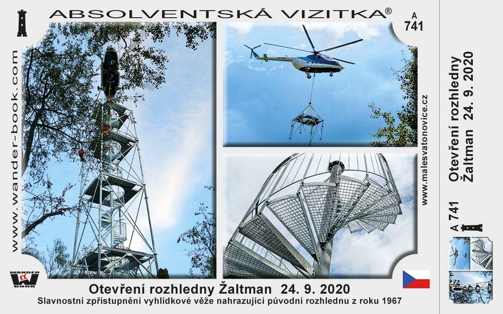 Otevření rozhledny Žaltman  24. 9. 2020