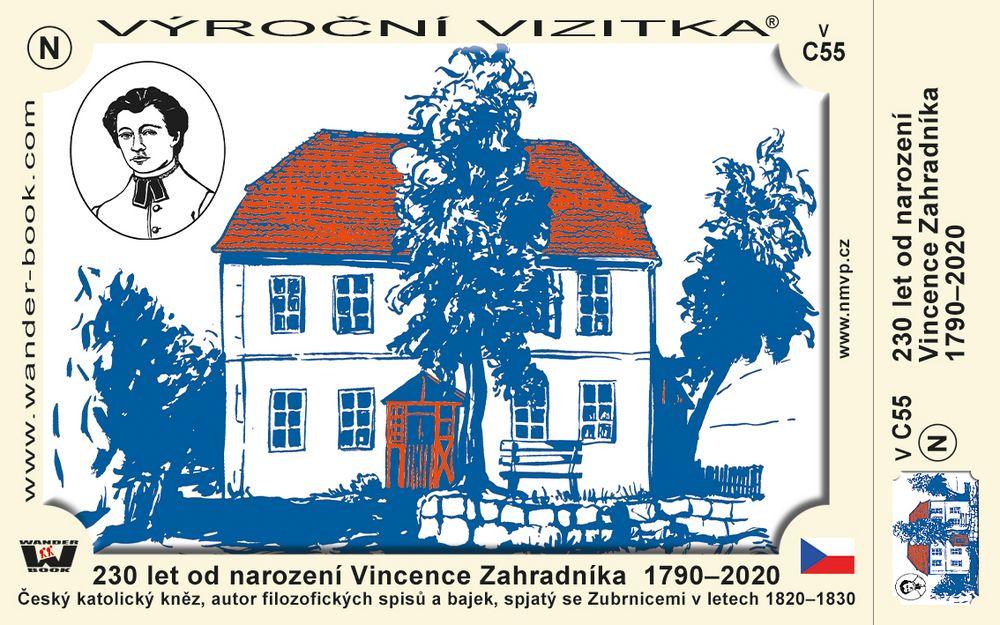 230 let od narození Vincence Zahradníka  1790–2020