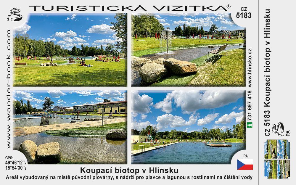 Koupací biotop v Hlinsku