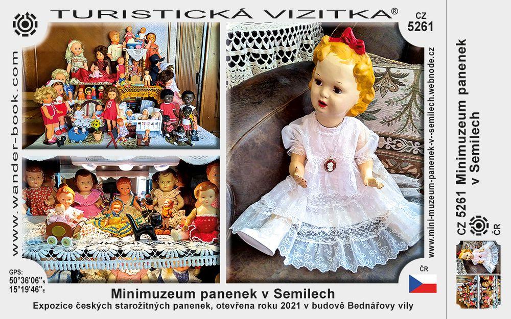 Minimuzeum panenek v Semilech