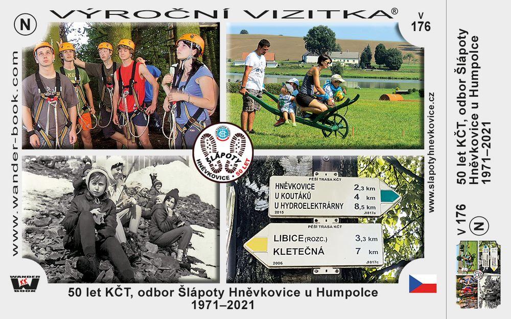 50 let KČT, odbor Šlápoty Hněvkovice u Humpolce 1971–2021