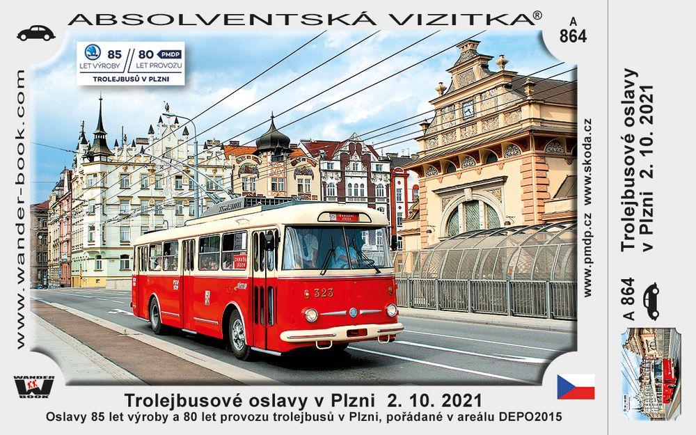 Trolejbusové oslavy v Plzni  2. 10. 2021