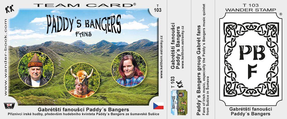 Gabrétští fanoušci Paddy´s Bangers