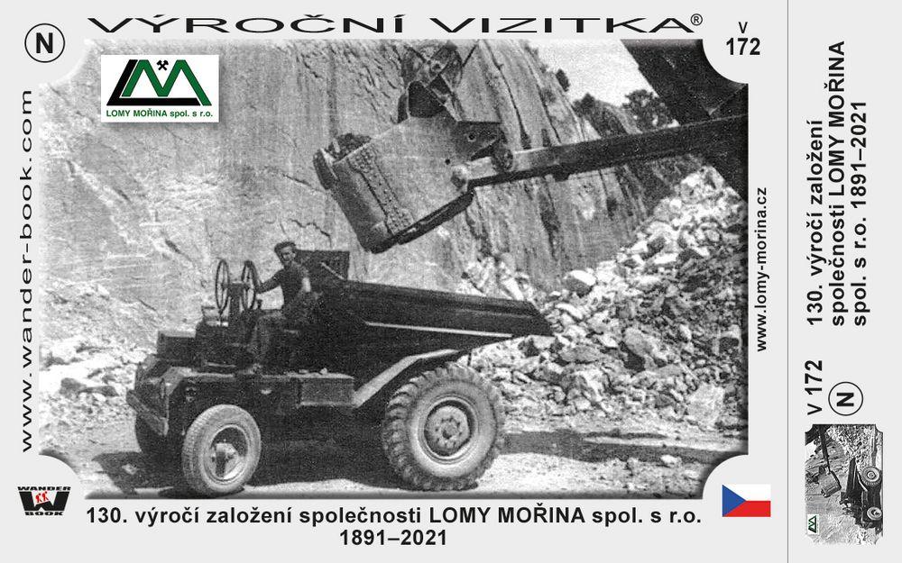 130. výročí založení společnosti LOMY MOŘINA spol. s r.o.  1891–2021