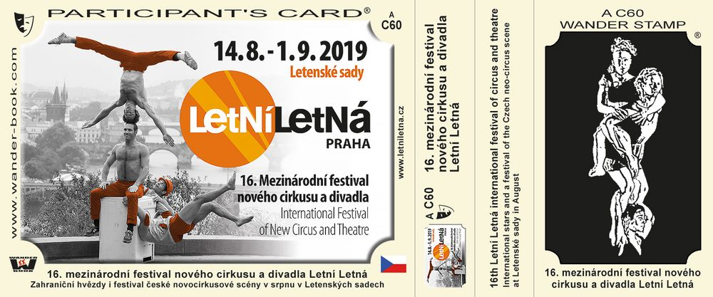16. mezinárodní festival nového cirkusu a divadla Letní Letná