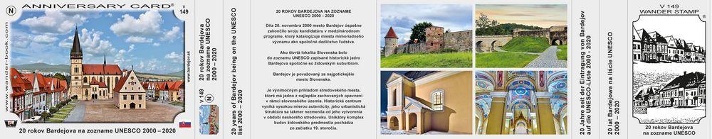 20 rokov Bardejova na zozname UNESCO 2000 – 2020