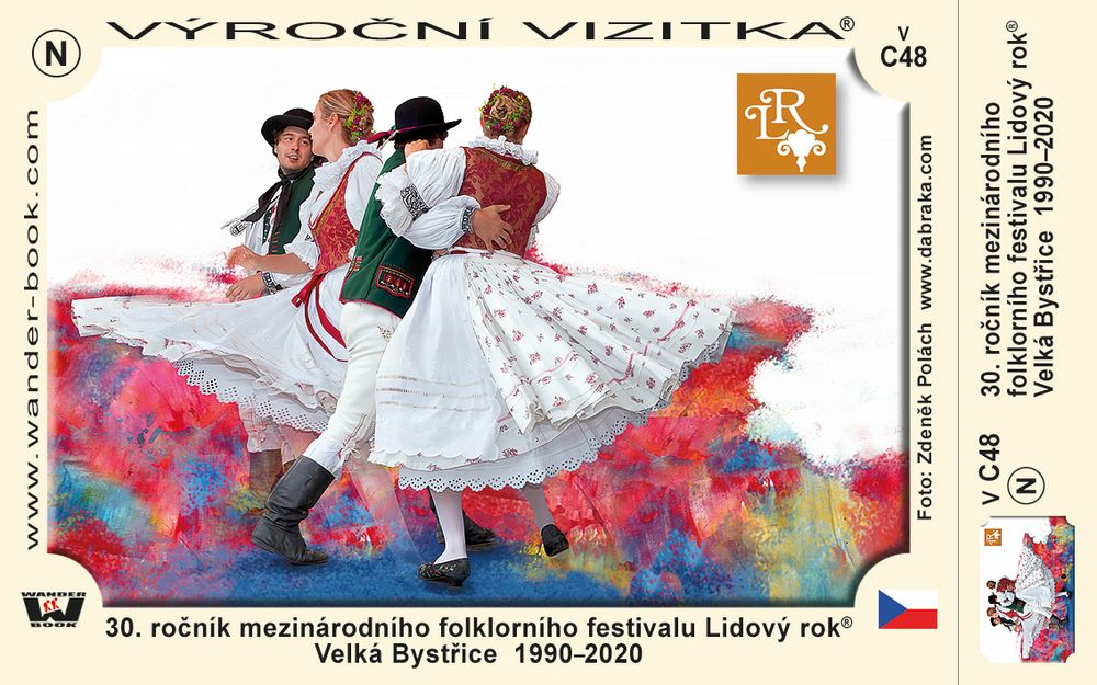 30. ročník mezinárodního folklorního festivalu Lidový rok® Velká Bystřice  1990–2020