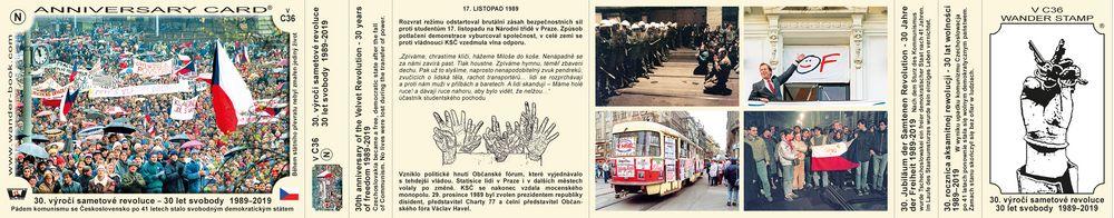 30. výročí sametové revoluce 1989–2019