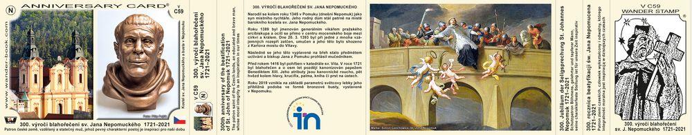 300. výročí blahořečení sv. Jana Nepomuckého  1721–2021
