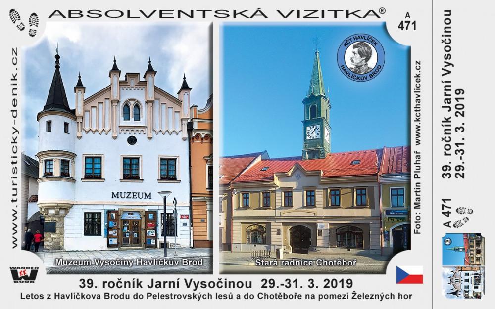 39. ročník Jarní Vysočinou  29.-31. 3. 2019