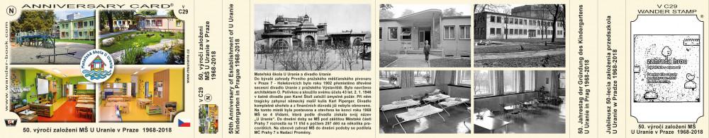 50. výročí založení MŠ U Uranie v Praze  1968-2018