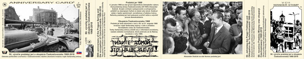 50. výročie pražskej jari a okupacie Československa 1968-2018