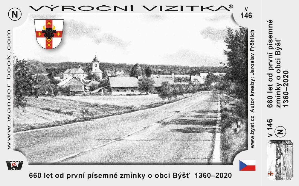 660 let od první písemné zmínky o obci Býšť  1360–2020