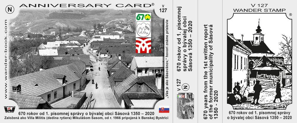 670 rokov od 1. písomnej správy o bývalej obci Sásová 1350 – 2020