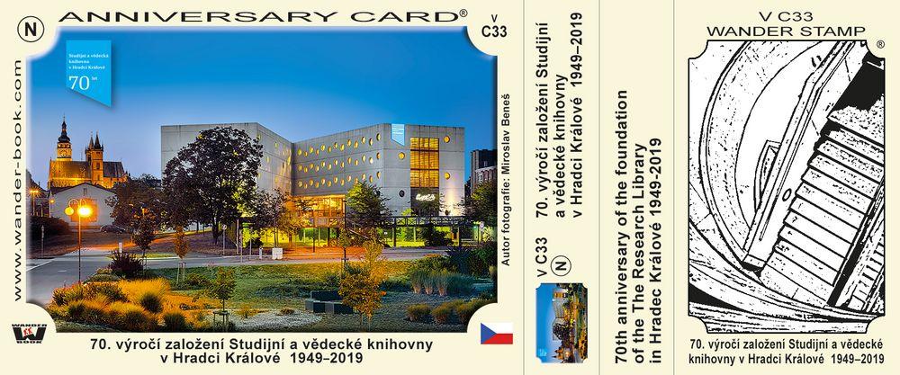 70. výročí založení Studijní a vědecké knihovny v Hradci Králové  1949–2019
