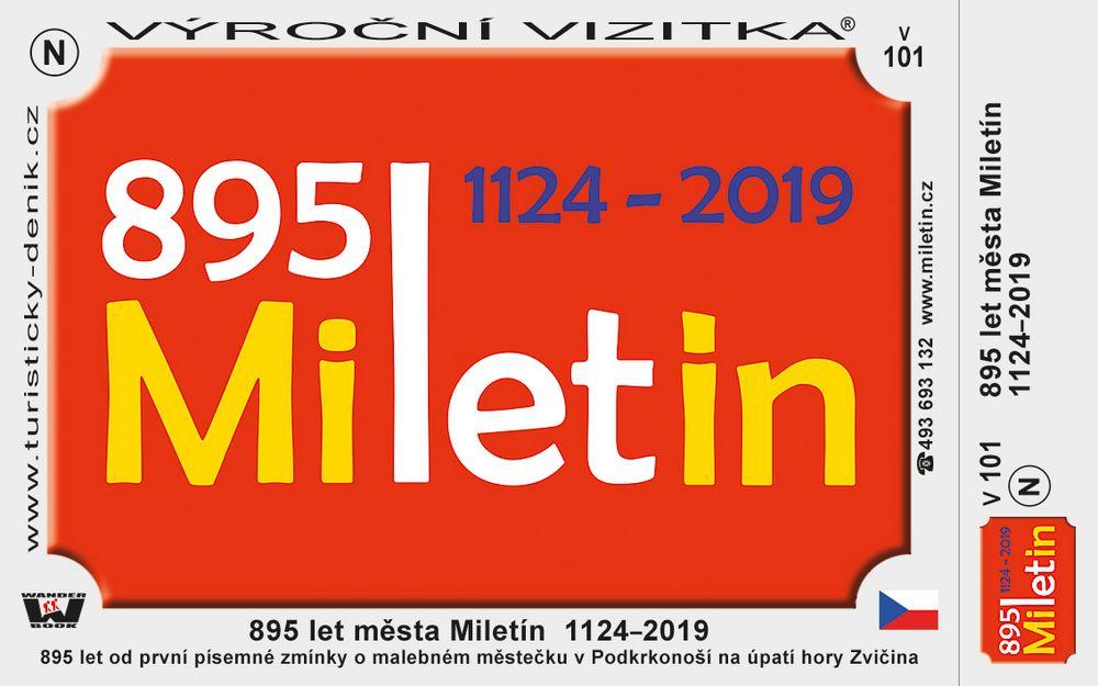 895 let města Miletín  1124–2019