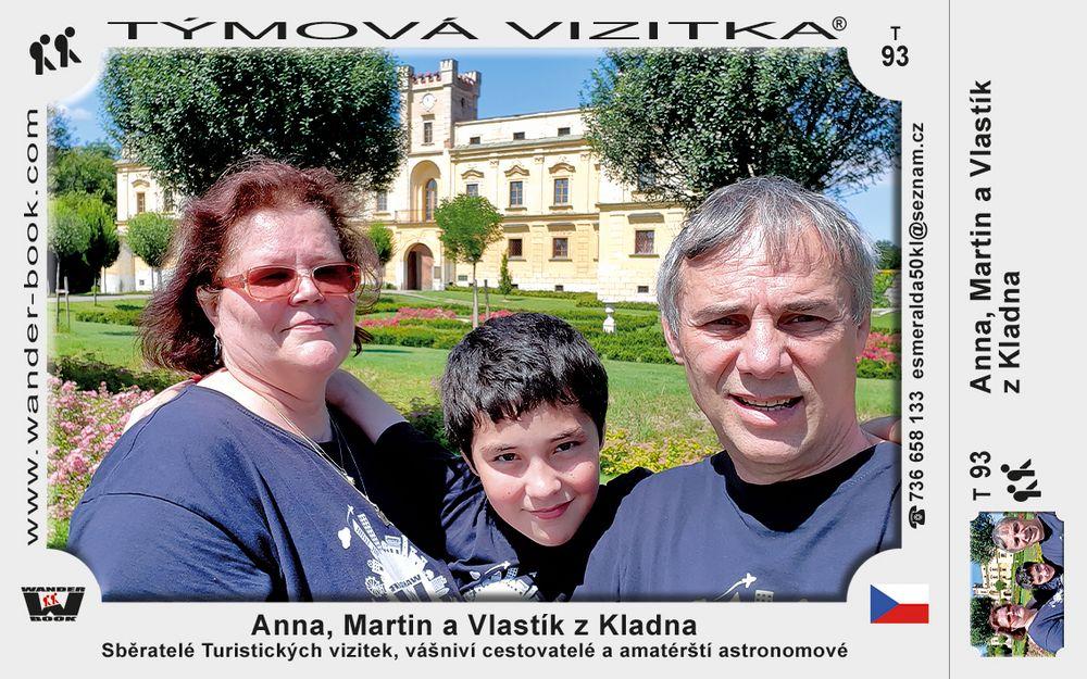 Anna, Martin a Vlastík z Kladna