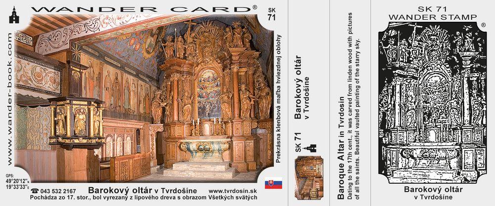 Barokový oltár v Tvrdošíne