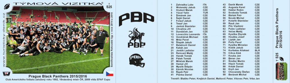 Black Panthers Praha 2016/2017