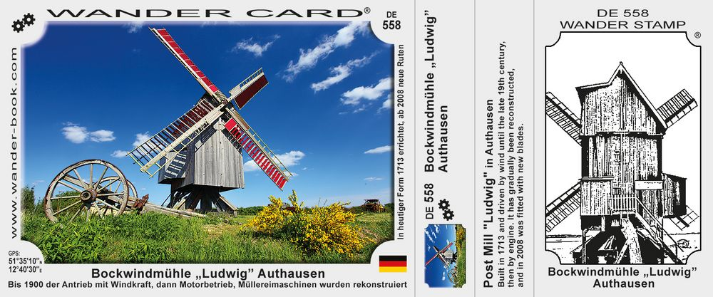 """Bockwindmühle """"Ludwig"""" Authausen"""