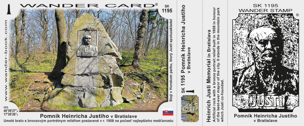 Pomník Heinricha Justiho v Bratislave