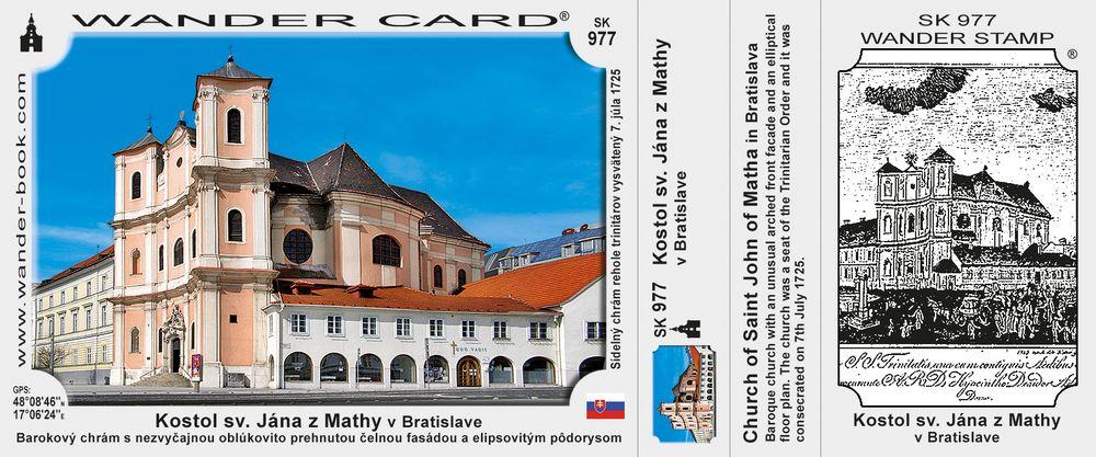 Kostol sv. Jána z Mathy v Bratislave