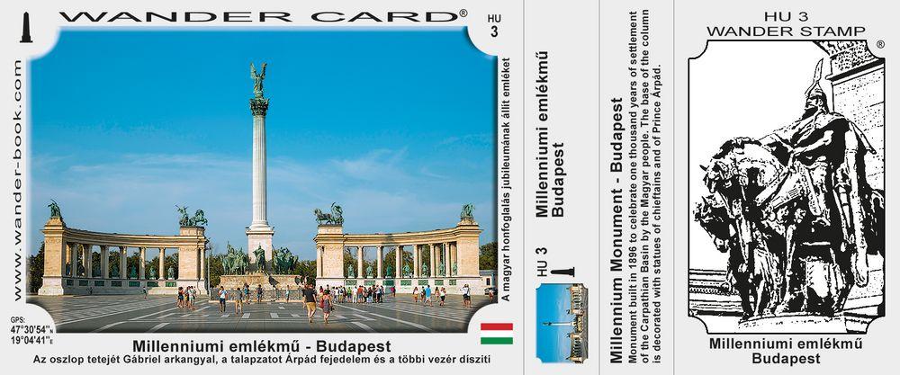 Budapest Millenniumi emlekmu pamatnik