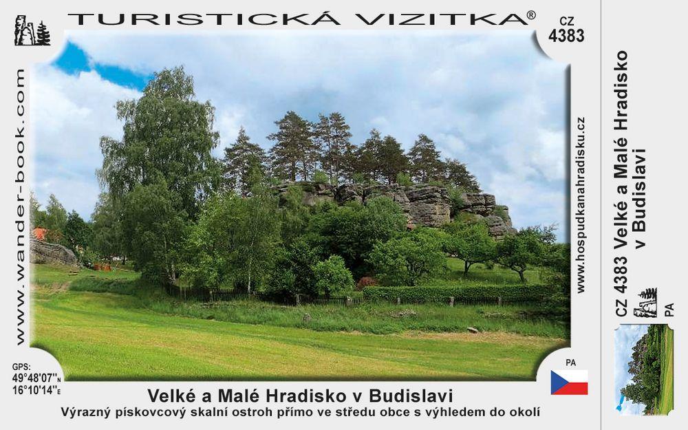 Velké a Malé Hradisko v Budislavi