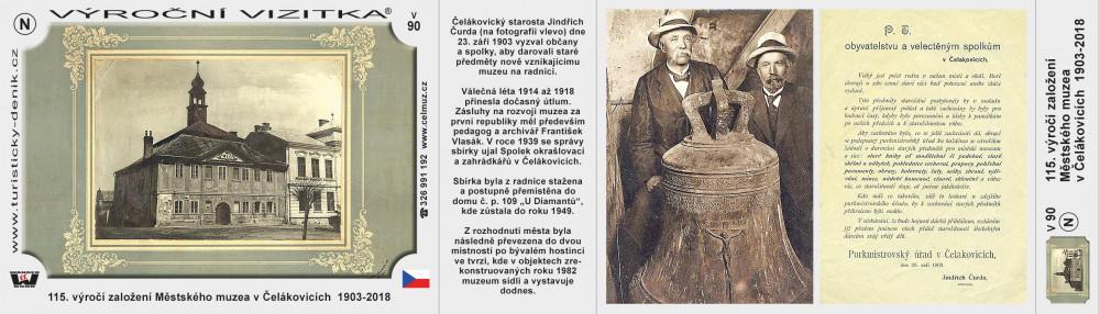 Čelákovice muzeum 115 let