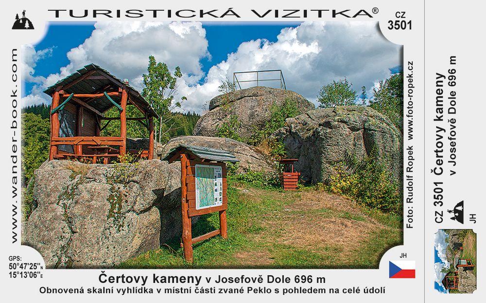Čertovy kameny v Josefově Dole