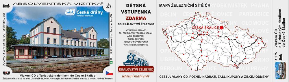 Česká Skalice vlakem ČD